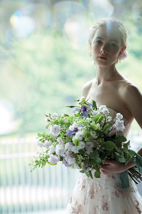 Bride, Photograph, Bouquet, Wedding dress, Flower, Dress, Flower Arranging, Gown, Bridal clothing, Floral design,