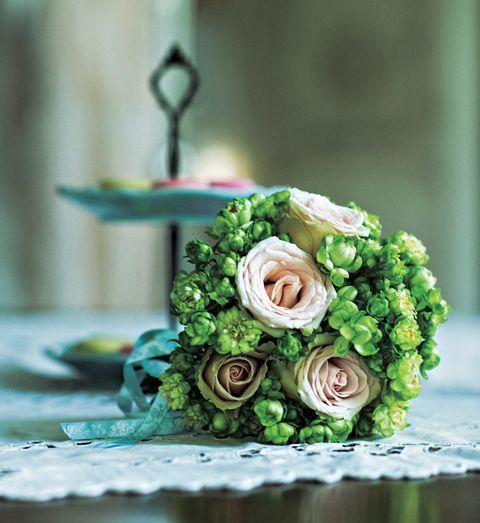 Flower, Bouquet, Floristry, Flower Arranging, Floral design, Green, Cut flowers, Wedding ceremony supply, Plant, Buttercream,