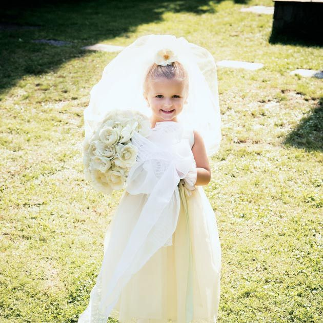 Dress, Photograph, White, Child, Clothing, Gown, Bride, Wedding dress, Bridal clothing, Bridal party dress,