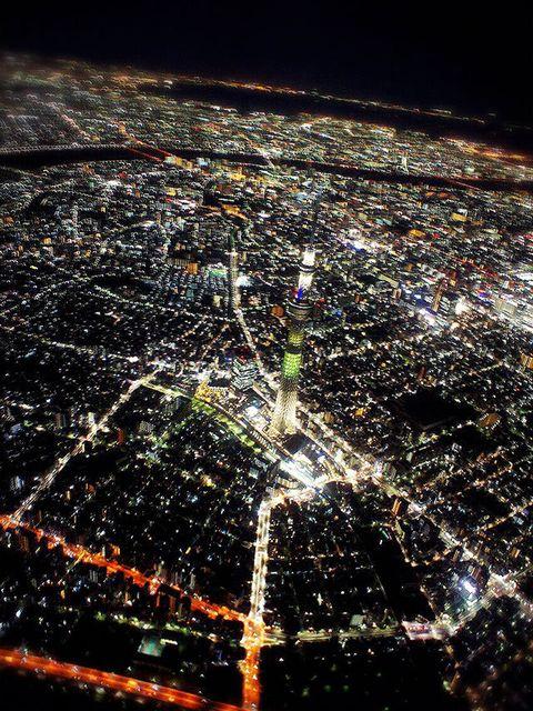 Night, Atmosphere, Urban area, Aerial photography, Residential area, Metropolitan area, Bird's-eye view, Midnight, Darkness, World,