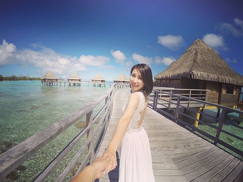 Dress, Happy, Tourism, Leisure, People in nature, Summer, Thatching, Vacation, Travel, Beauty,
