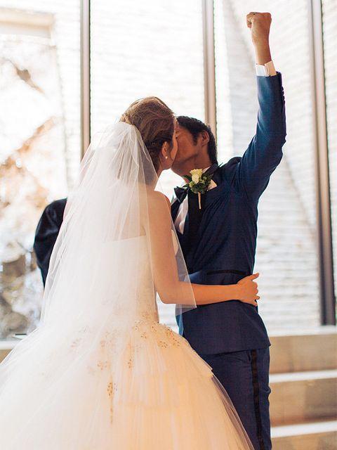 Wedding dress, Photograph, Bride, White, Gown, Bridal clothing, Dress, Ceremony, Wedding, Veil,