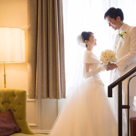 Bride, Photograph, Wedding dress, Dress, Gown, Bridal clothing, Ceremony, Wedding, Formal wear, Shoulder,