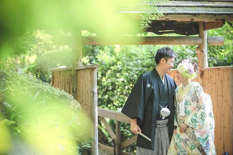Photograph, Green, Yellow, Ceremony, Photography, Formal wear, Wedding, Plant, Costume, Happy,