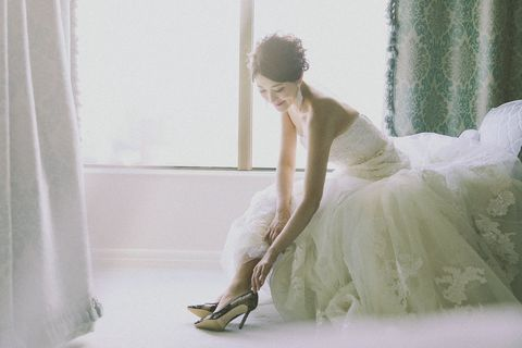 White, Photograph, Dress, Clothing, Wedding dress, Beauty, Footwear, Shoulder, Bridal clothing, Gown,