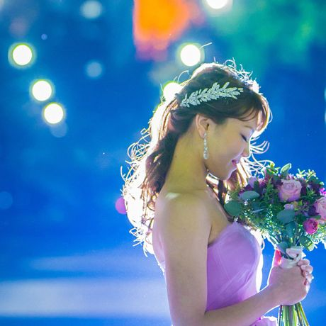Blue, Light, Beauty, Headpiece, Dress, Photography, Bride, Flower, Plant, Headgear,