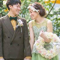 Photograph, Wedding dress, Bride, Dress, Formal wear, Bridal clothing, Yellow, Suit, Ceremony, Wedding,