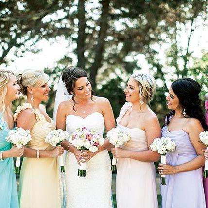 Photograph, Bride, Dress, Gown, Pink, Ceremony, Bridal party dress, Wedding, Event, Aqua,