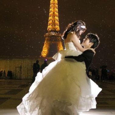 Photograph, Bride, Wedding dress, Dress, Gown, Bridal clothing, Marriage, Yellow, Wedding, Fashion,