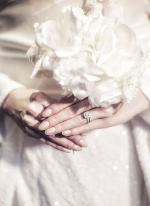 Photograph, Hand, Wedding dress, Dress, Wedding ceremony supply, Bride, Gesture, Ring, Finger, Flower,