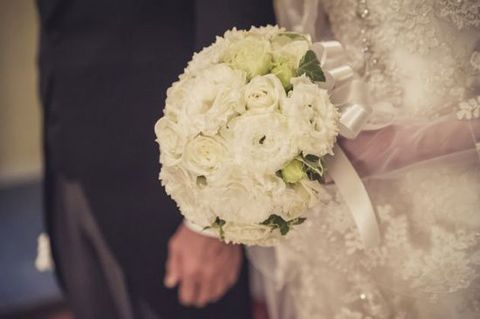 Bouquet, White, Photograph, Flower, Bride, Cut flowers, Wedding dress, Flower Arranging, Dress, Floristry,