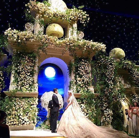 Night, Arch, Majorelle blue, Midnight, Decoration, Holiday, Christmas,