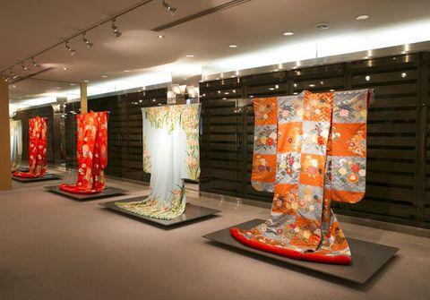 Exhibition, Art exhibition, Art gallery, Kimono, Collection, Art,
