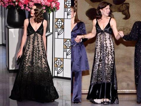 Clothing, Dress, Gown, Fashion model, Formal wear, Fashion, Shoulder, A-line, Haute couture, Neck,