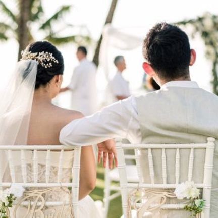 Photograph, Bride, White, Ceremony, Wedding dress, Wedding, Veil, Dress, Marriage, Bridal clothing,