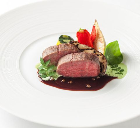 Dish, Food, Cuisine, Beef tenderloin, Flat iron steak, Venison, Roast beef, Ingredient, Meat, Boeuf à la mode,
