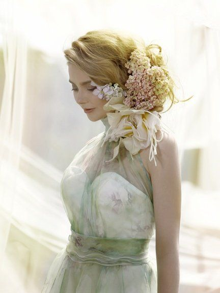 Hair, White, Photograph, Wedding dress, Dress, Shoulder, Clothing, Gown, Bride, Hairstyle,