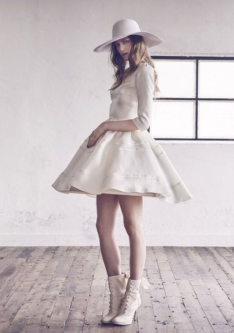 Clothing, White, Photograph, Fashion, Dress, Beauty, Footwear, Street fashion, Waist, Leg,