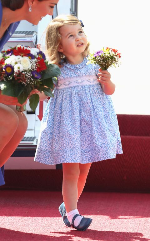 Child, Blue, Clothing, Yellow, Dress, Pink, Footwear, Ceremony, Smile, Child model,