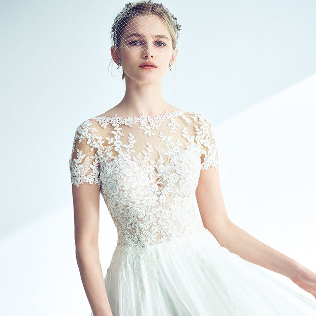 Clothing, Dress, Fashion model, Gown, Shoulder, Wedding dress, White, Cocktail dress, A-line, Bridal party dress,