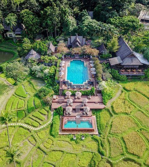 Natural landscape, Botanical garden, Landscape, Bird's-eye view, Botany, Estate, Architecture, Garden, Grass, Urban design,