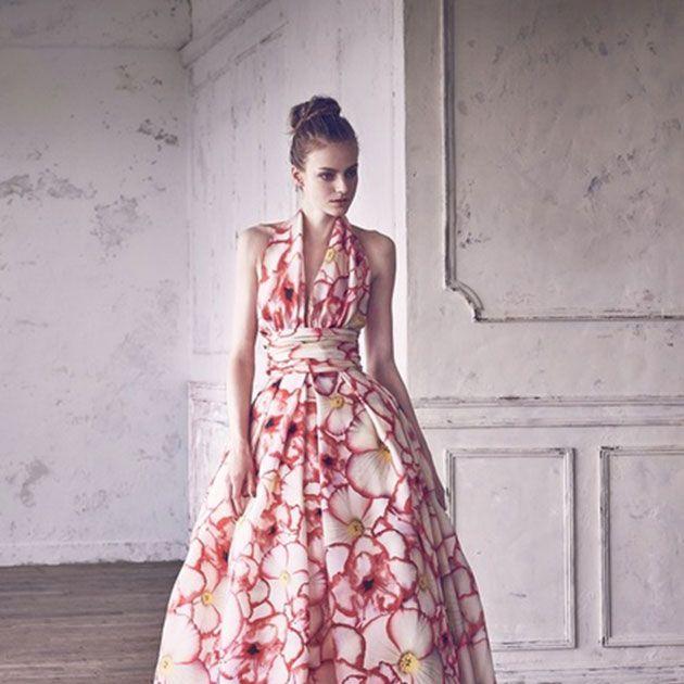 Fashion model, Clothing, Dress, Gown, Pink, Shoulder, Fashion, Formal wear, Fashion design, Day dress,