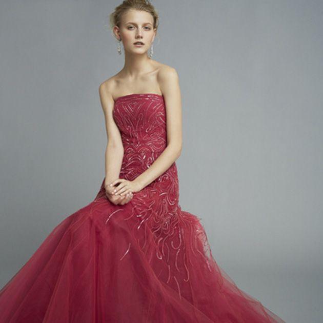 Gown, Clothing, Dress, Fashion model, Bridal party dress, Pink, Shoulder, Waist, Strapless dress, Formal wear,