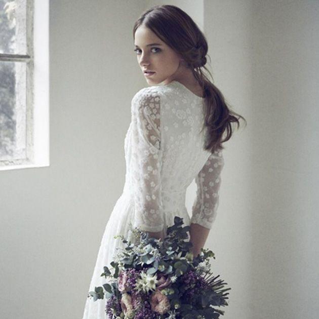 Wedding dress, Clothing, Dress, Gown, White, Shoulder, Bridal clothing, Bridal party dress, Bride, A-line,