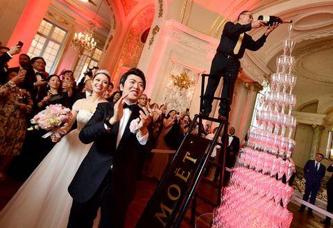 Pink, Event, Dress, Ceremony, Fashion, Marriage, Wedding, Wedding dress, Wedding reception, Gown,