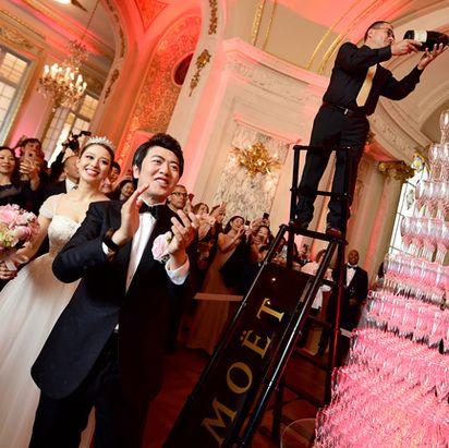 Pink, Photograph, Event, Dress, Ceremony, Fashion, Wedding, Wedding reception, Marriage, Formal wear,