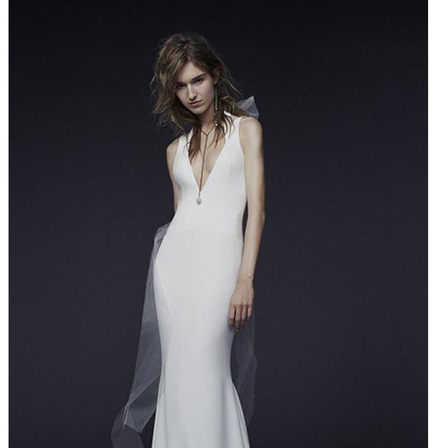 Gown, Clothing, Dress, Fashion model, Shoulder, A-line, Wedding dress, Bridal party dress, Neck, Formal wear,