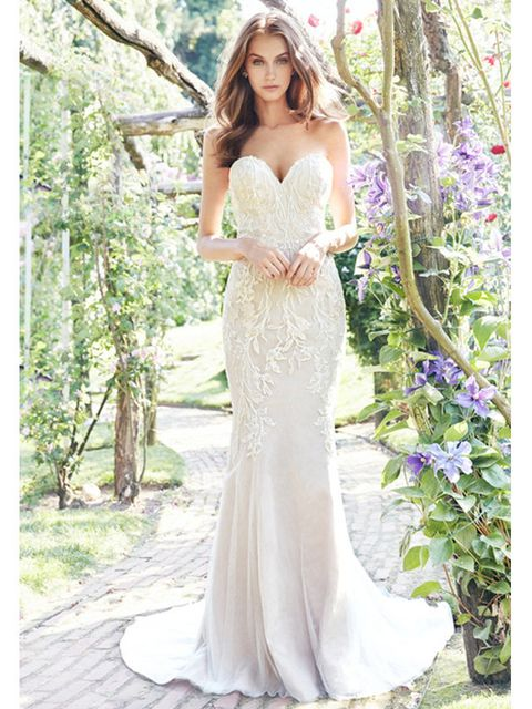 Gown, Clothing, Dress, Wedding dress, Bridal party dress, Photograph, Shoulder, Bride, Bridal clothing, Strapless dress,