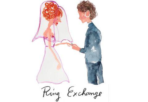 Cartoon, Pink, Illustration, Gesture, Fashion illustration, Formal wear, Love, Drawing, Art,