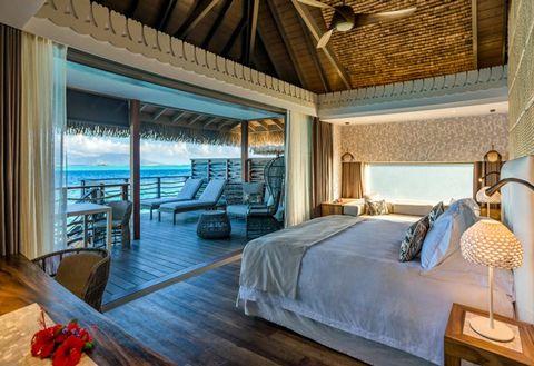 Bedroom, Room, Property, Furniture, Bed, Building, Interior design, Resort, Suite, Real estate,
