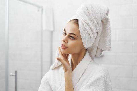 White, Skin, Beauty, Lip, Eye, Towel, Headgear, Textile, Linens, Outerwear,
