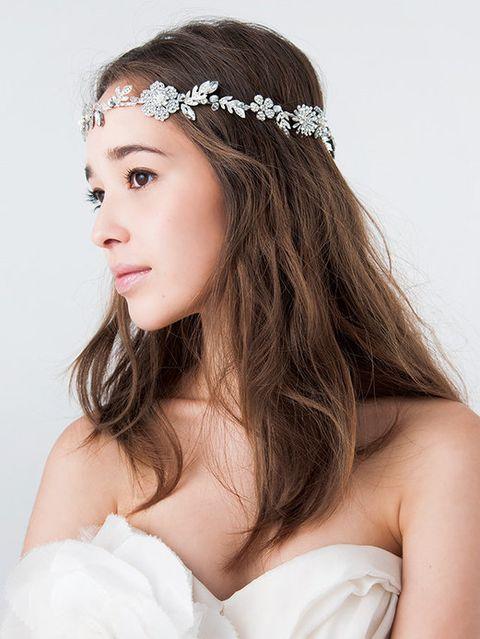 Brown, Hairstyle, Skin, Eyebrow, Hair accessory, Headpiece, Style, Beauty, Fashion accessory, Headgear,