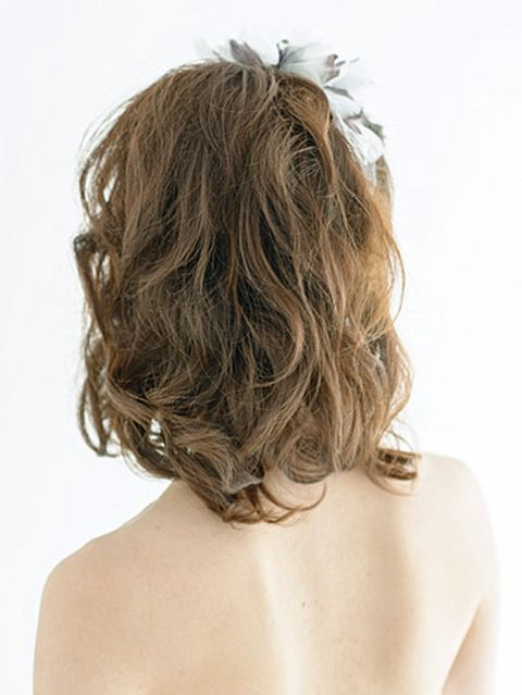Brown, Hairstyle, Shoulder, Joint, Back, Style, Beauty, Blond, Neck, Brown hair,