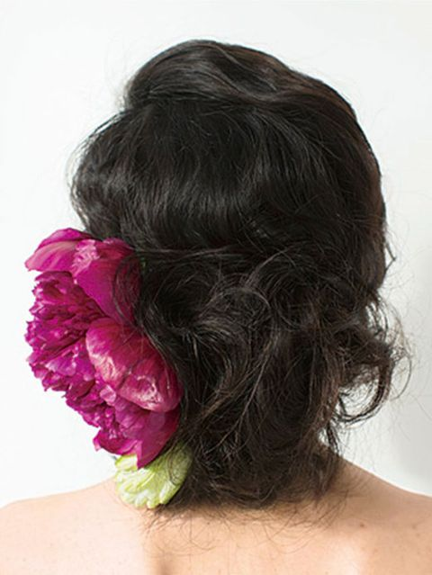 Hairstyle, Shoulder, Style, Petal, Beauty, Neck, Back, Long hair, Hair coloring, Hair accessory,