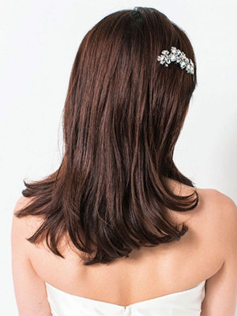 Clothing, Hairstyle, Shoulder, Joint, Hair accessory, Style, Back, Headpiece, Beauty, Headgear,