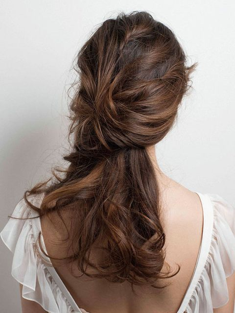 Brown, Hairstyle, Shoulder, Style, Back, Long hair, Brown hair, Neck, Liver, Hair coloring,