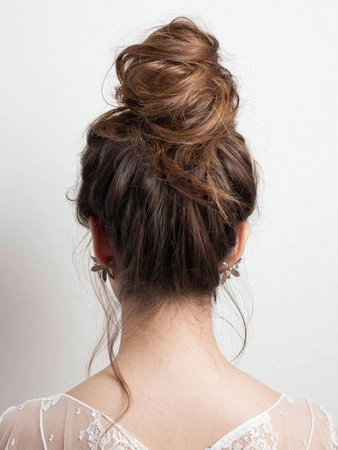Clothing, Hair, Hairstyle, Shoulder, Joint, Mammal, Style, Back, Beauty, Bridal accessory,