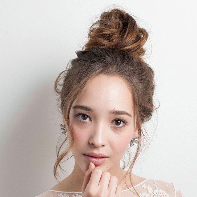 Clothing, Lip, Hairstyle, Skin, Chin, Shoulder, Eyebrow, Eyelash, Style, Wedding dress,