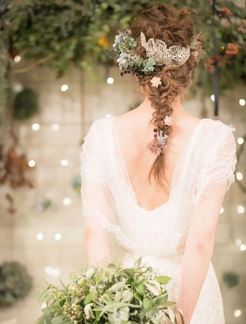Bride, Headpiece, Wedding dress, Hair, Gown, Photograph, Dress, Bridal clothing, Hair accessory, Clothing,