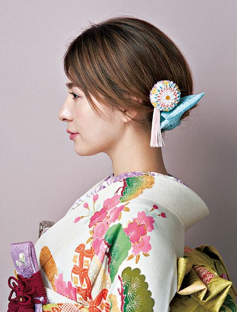 Ear, Hairstyle, Earrings, Eyelash, Style, Beauty, Teal, Kimono, Turquoise, Makeover,
