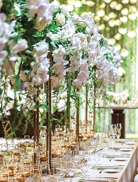 Flower, Branch, Plant, Centrepiece, Tree, Wedding reception, Botany, Floral design, Spring, Flower Arranging,