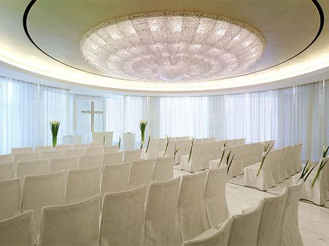 Interior design, Ceiling fixture, Textile, Ceiling, Wall, Light fixture, Interior design, Real estate, Hall, Decoration,