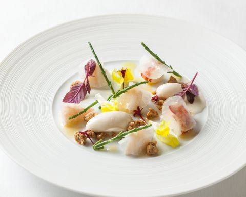 Dish, Cuisine, Food, Ingredient, Crudo, À la carte food, Recipe, Produce, Seafood, Plate,