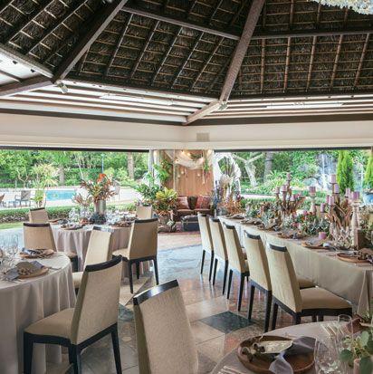 Restaurant, Property, Resort, Building, Interior design, Room, Real estate, Ceiling, Hotel, Orangery,