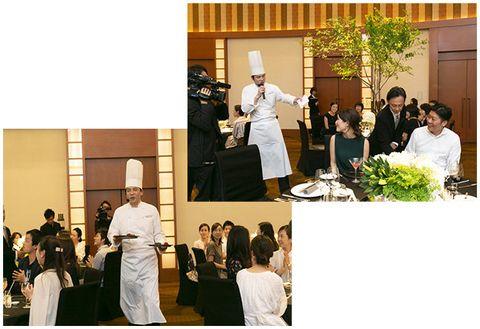 Photograph, Ceremony, Event, Yellow, Wedding, Dress, Wedding reception, Bride, Formal wear, Wedding dress,