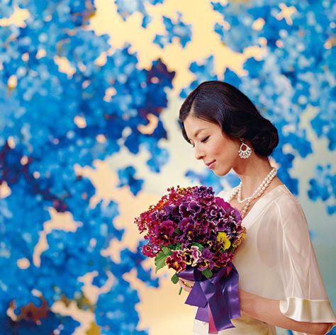 Blue, Photograph, Beauty, Yellow, Sky, Happy, Purple, Flower, Smile, Dress,
